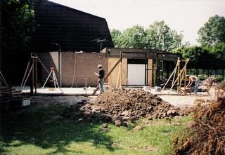 Het Schansgebouw in aanbouw